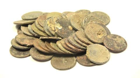 Pennies Found In Metal Detecting Footage
