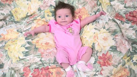Cute Baby Resting Footage
