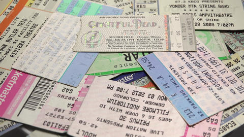 USA Concert Ticket Showcase stock footage