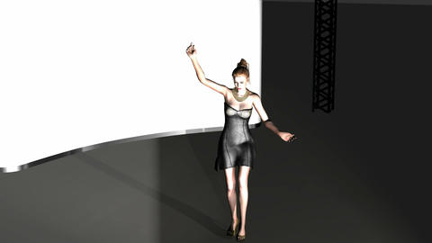 Woman Dancing Solo in Studio: Looping Animation