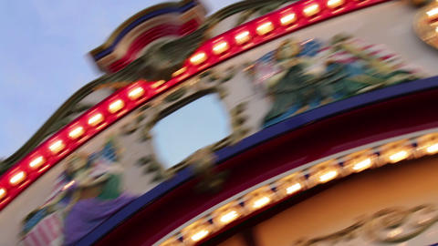 Rotating Carousel At The Fair 03 stock footage