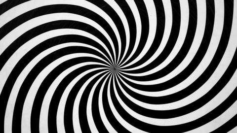 Black and White Spiral Spinning Left Footage