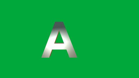 "Crumbling Alphabet ""A"" Animation: +Matte Animation"