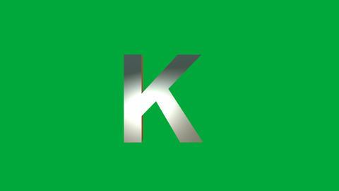 "Crumbling Alphabet ""K "" Animation: +Matte Animation"