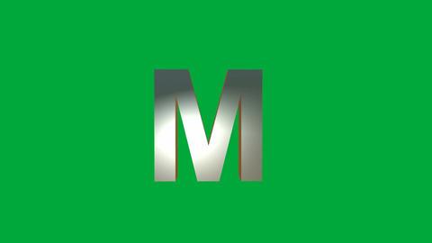 "Crumbling Alphabet "" M"" Animation: +Matte Animation"