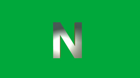 "Crumbling Alphabet ""N "" Animation: +Matte Animation"