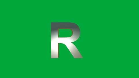 "Crumbling Alphabet ""R"" Animation: +Matte Animation"