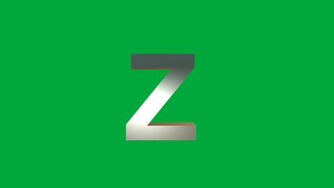 "Crumbling Alphabet ""Z"" Animation: +Matte Animation"