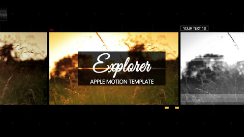 Explorer - Apple Motion and Final Cut Pro X Template Apple Motion Template