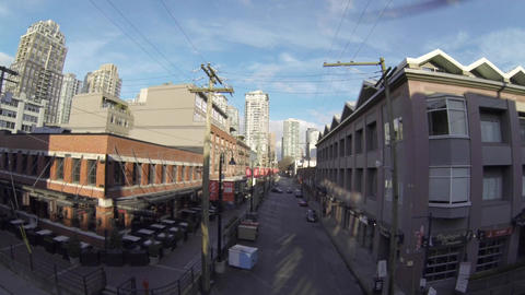 aerial - Yaletown Vancouver on mainland street 2 Footage