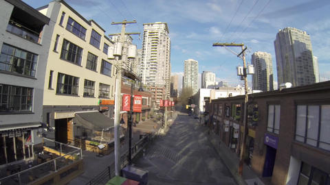 aerial - Yaletown Vancouver on mainland street 4 Footage
