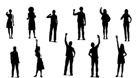 Silhouettes Of Young People