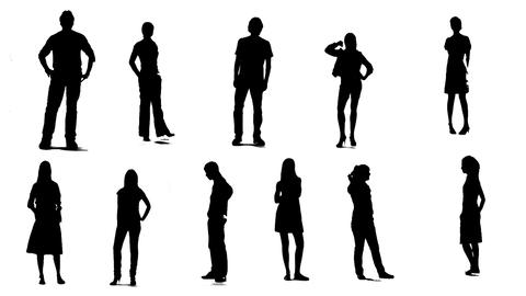 Silhouettes Of Young People 0