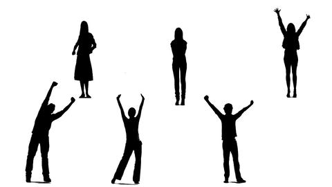 Silhouettes Of Young People 1