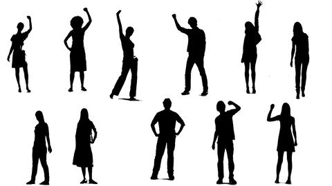 Silhouettes Of Young People 2