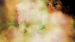 Smoke colorful on black background Footage