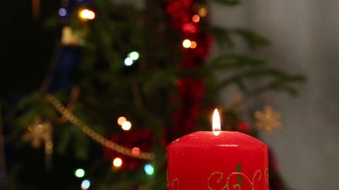 Christmas - Cute Child Blowing On Candle stock footage