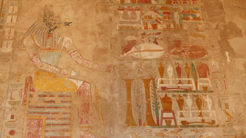 ancient egypt color images on wall in luxor Live Action