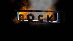 Fiery Letters: Rock stock footage