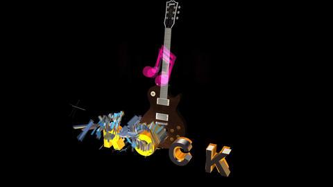 Rock Title Explode: Version #1 Animation