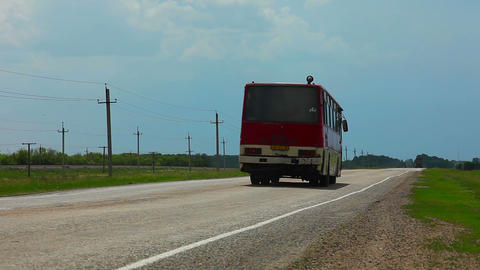 Bus on the road Footage