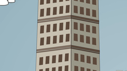 Skyscraper, Camera Pan stock footage