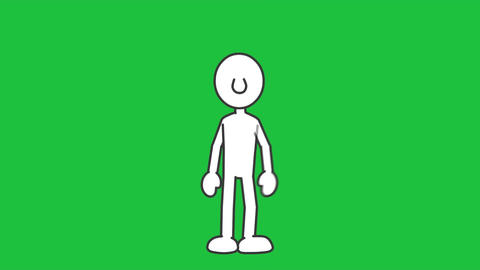 Stick Figure, Popping Dance: Loopable + Matte Animation