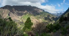 4k Time Lapse, La Palma, Barranco De Las Angustias stock footage
