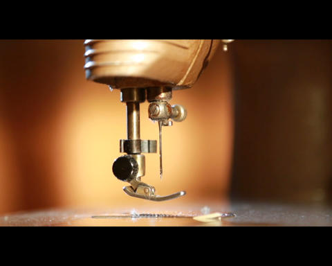 Sewing Machine (without The Needle Thread) stock footage