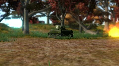 WWII Era Tank Battle Animation