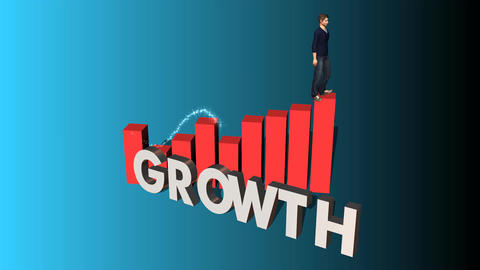 "Walking up Chart of Success: ""Growth"" Edition Animation"