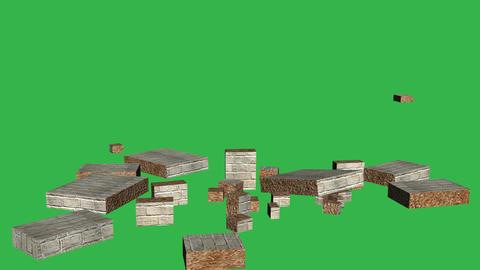 Tumbling Wall Animation (Version #2 ) + Matte Animation