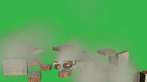 Tumbling Wall Animation (Version #4 ) + Matte Animation