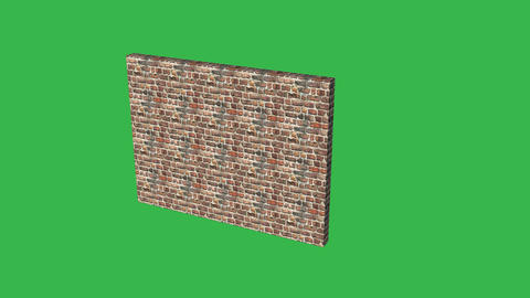 Collapsing Wall: Greenscreen stock footage