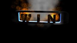 Fiery Letters: Win stock footage