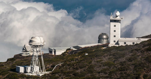 4k Time Lapse, La Palma, Observatories Footage