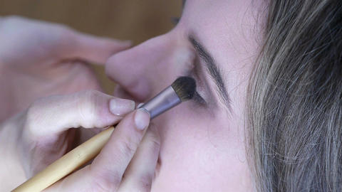 Face Makeup In Beauty Salon stock footage