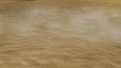 Sandstorm In The Desert (Animated) + Loop stock footage