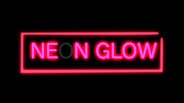Flickering Neon Light stock footage