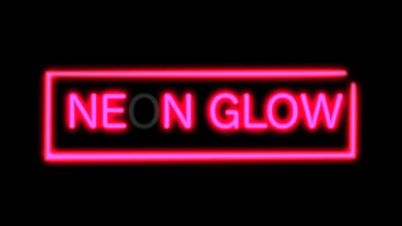 Flickering Neon Light stock footage