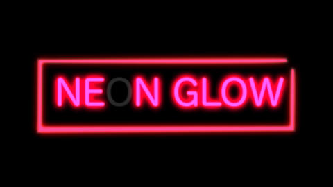 Flickering Neon Light After Effects Template