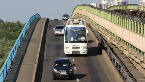 White Bus stock footage
