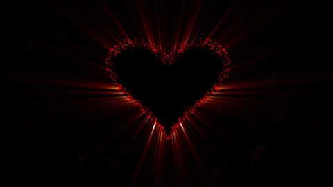 Valentines day, heart bada boom on black backgroun Animation