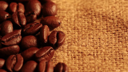 Coffee Beans And Burlap stock footage