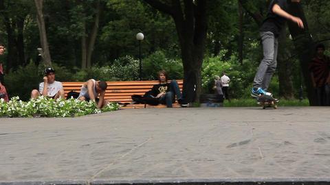 Skateboarders stock footage