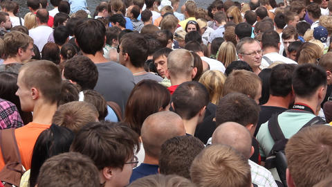 Crowd stock footage