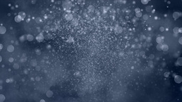 Snow falling from the sky , view from Earth Animation