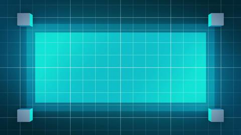 moving 3D cubes, loop BG, blue CG動画