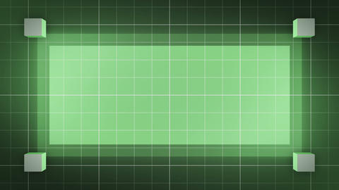 moving 3D cubes, loop BG, green CG動画