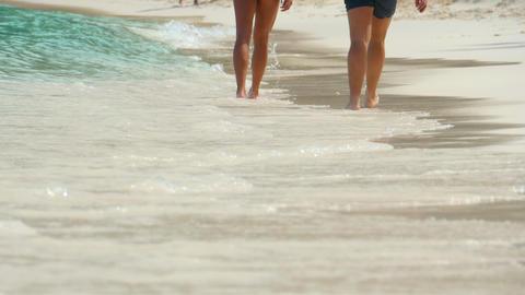 Beach walking Footage